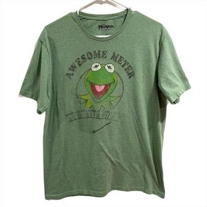 The Muppets Kermit the Frog Shirt Green Size L